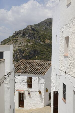 Sight of the mountain from Casares village of Malaga province, Andalusia, Spain.