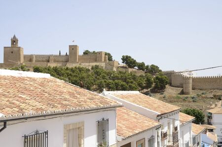 Ancient Moorish fortress in  Antequera, a city of the province of Malaga, Andalusia, Spain.