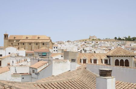 Cityscape of Antequera, a city of the province of Malaga, Andalusia, Spain.