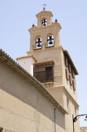 Bell tower in Antequera, a city of the province of Malaga, Andalusia, Spain.