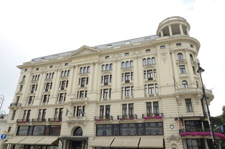 Warsaw, Poland - July 29, 2018: Exterior building of hotel in Warsaw, the capital of Poland.