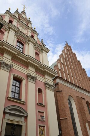 Jesuit Church and Saint John cathedral in the old town of Warsaw, Poland.