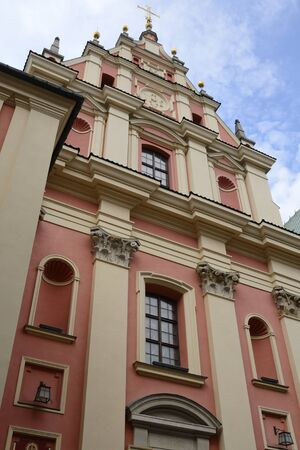 Jesuit Church in the old town of Warsaw, Poland.