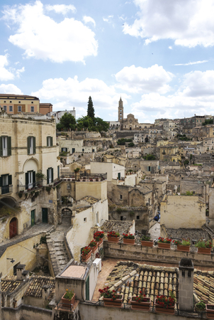 scenary: View of Sassi, the old town of Matera Stock Photo