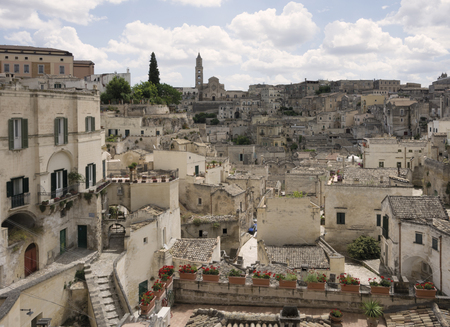 matera: View of Sassi, the old town of Matera Stock Photo