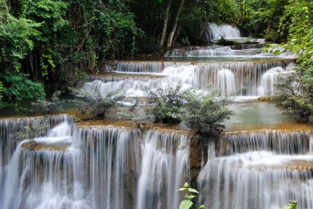background waterfalls: waterfall Beautiful in thailand Stock Photo