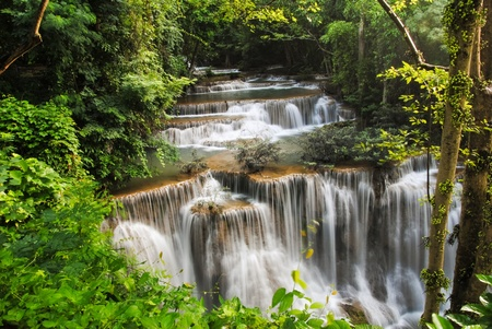 primeval: waterfall Beautiful in thailand Stock Photo