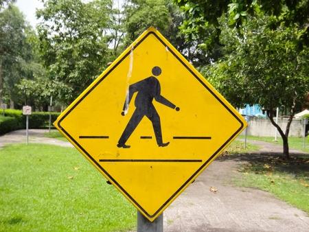 Yellow sign icon Stock Photo - 9551509