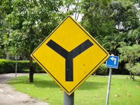 Yellow sign icon Stock Photo - 9551511