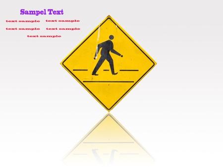 Yellow sign icon Stock Photo - 9551505