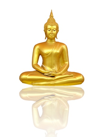 Beautiful Buddha image in Thailand, a white background photo