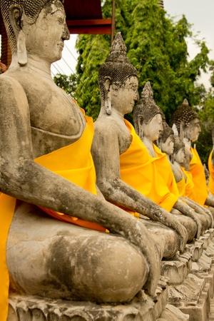 Wat Yai Chai Mong sharp Ayutthaya Historical Park in Thailand