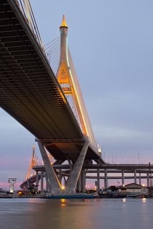 Bridge Circle at night in Thailand photo