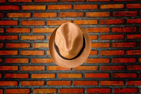 Brick walls and a hat Stock Photo - 9910688