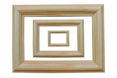 The tilting frame white wood stacked