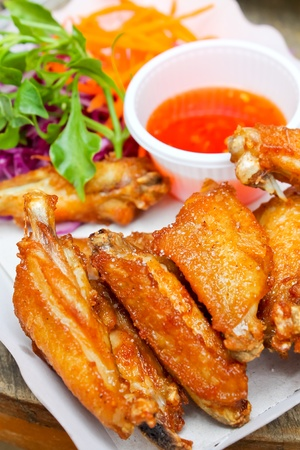 malaysian food: Fried chicken with salt Stock Photo