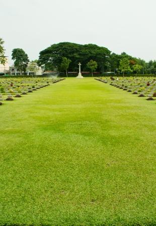 Cemeteries of World War II, Kanchanaburi Thailand Stock Photo