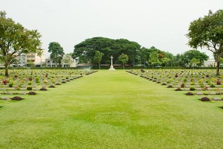 World War graves in Kanchanaburi Thailand Stock Photo