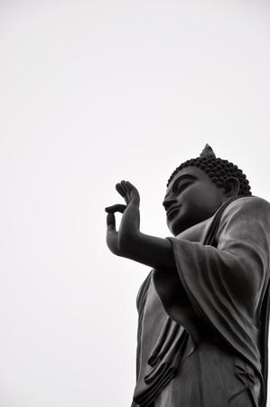 Black Buddha statues photo