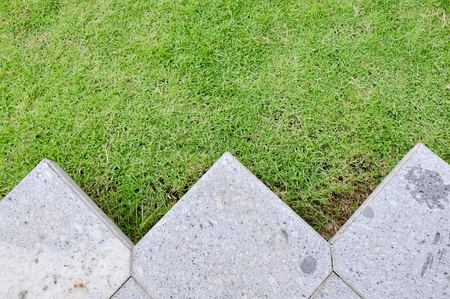 pave: Grass and stone