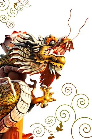 Dragon statue Stock Photo