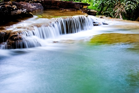Water fall, Kanchanaburi in Thailand photo