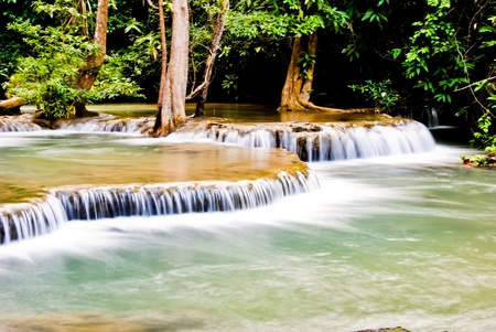 Water fall, Kanchanaburi in Thailand Stock Photo - 11202595