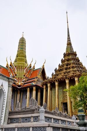 krung: The Grand Palace Wat Phra Kaew in Bangkok, Thailand Stock Photo