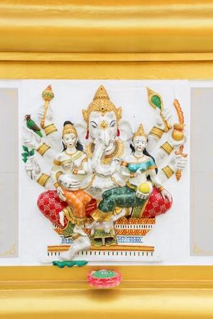 hindu god shiva: The image of Ganesha with bright colors, the healing, Chachoengsao, Thailand Stock Photo