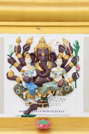 siddhivinayaka: The image of Ganesha with bright colors, the healing, Chachoengsao, Thailand Stock Photo