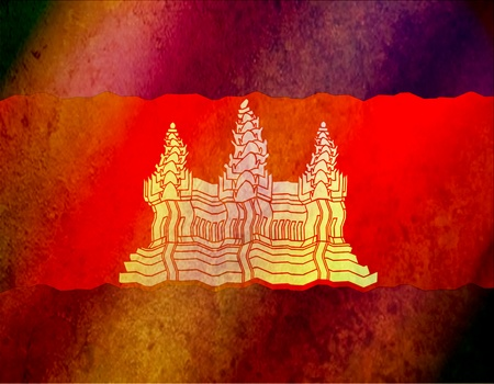 This national flag of Combodia.old color scheme photo