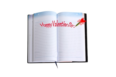 The white book of the month of love Stock Photo - 12373240