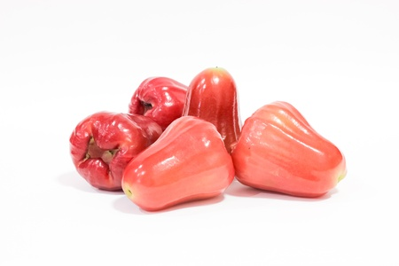 Chomphu and Rose apples or isolated on white background Stock Photo - 12373266