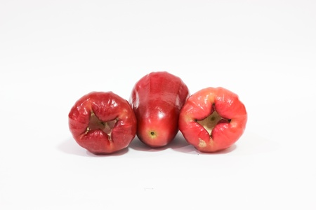 Chomphu and Rose apples or isolated on white background Stock Photo - 12373251