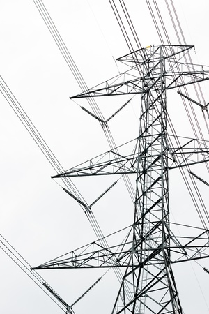 Large high-voltage towers