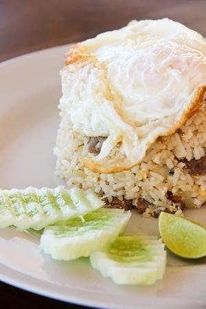 Fried rice with pork Stock Photo - 12906633