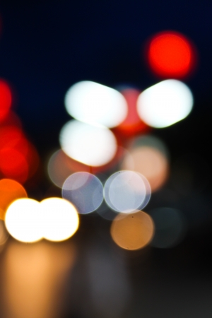 Abstract circular bokeh photo