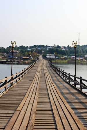 Mon Bridge in Kanchanaburi, Thailand photo