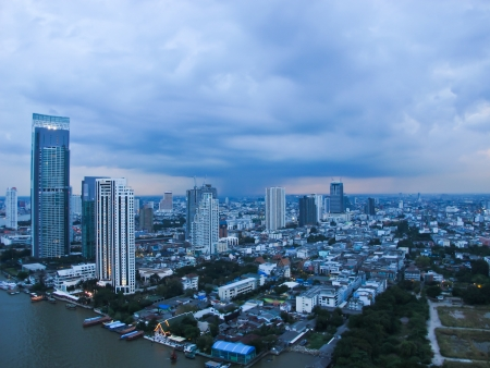 City Top View at afternoon in bangkok Stock Photo - 16534001