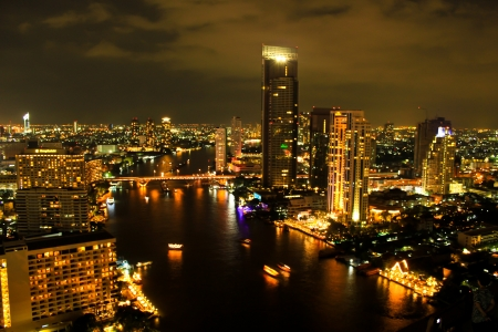 View over the city of Bangkok photo