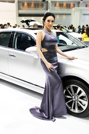 BANGKOK - DECEMBER 5  Unidentified female presenters model at the LEXUS booth during the Thailand International Motor Expo at Impact Muang Thong Thani on DECEMBER 5, 2012 in Bangkok, Thailand  Stock Photo - 17491305