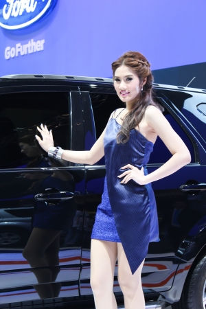 BANGKOK - DECEMBER 5  Unidentified female presenters model at the FORD booth during the Thailand International Motor Expo at Impact Muang Thong Thani on DECEMBER 5, 2012 in Bangkok, Thailand  Stock Photo - 17491287