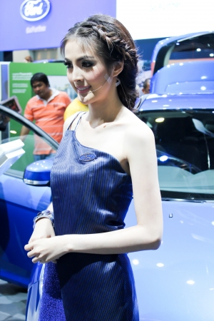BANGKOK - DECEMBER 5  Unidentified female presenters model at the FORD booth during the Thailand International Motor Expo at Impact Muang Thong Thani on DECEMBER 5, 2012 in Bangkok, Thailand  Stock Photo - 17491296