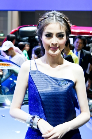 BANGKOK - DECEMBER 5  Unidentified female presenters model at the FORD booth during the Thailand International Motor Expo at Impact Muang Thong Thani on DECEMBER 5, 2012 in Bangkok, Thailand  Stock Photo - 17491299