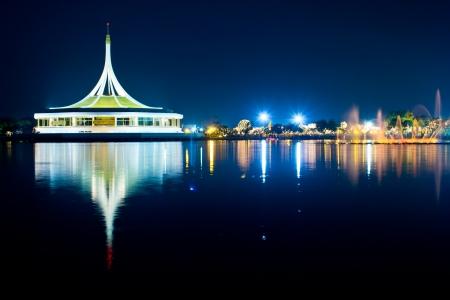 Twilight of Bangkok city in Thailand Stock Photo - 17019926