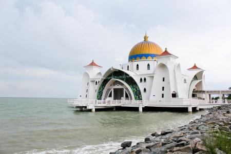 afloat: Afloat Mosque in Melaka,Malaysia