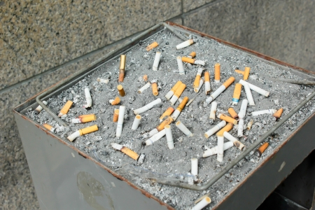 Many cigarette at background photo