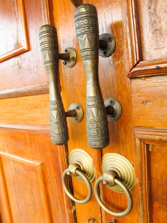 Brown wooden door Stock Photo - 18541158