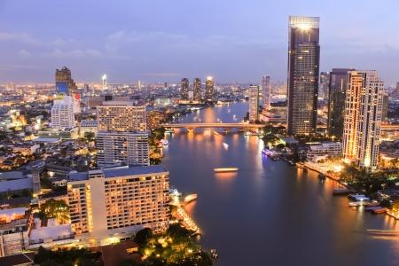 City Top View in bangkok Stock Photo