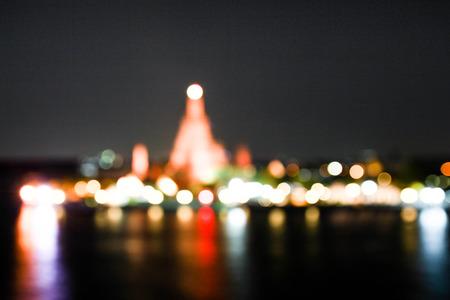wat arun: Blurred Wat Arun Temple in bangkok, Thailand